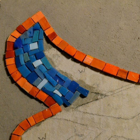 graffit-inspired mosaic - work in progress