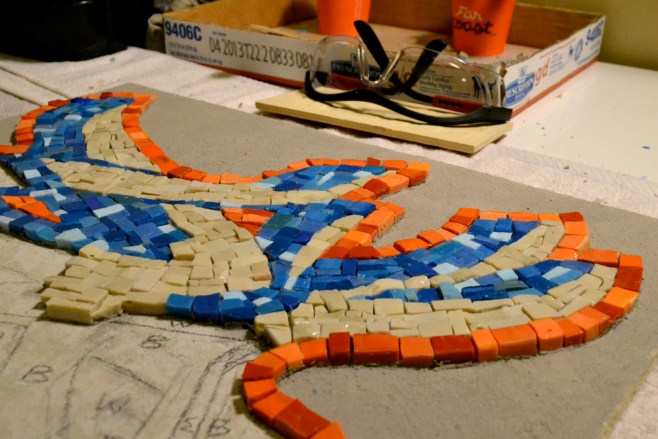 graffiti mosaic - work in progress