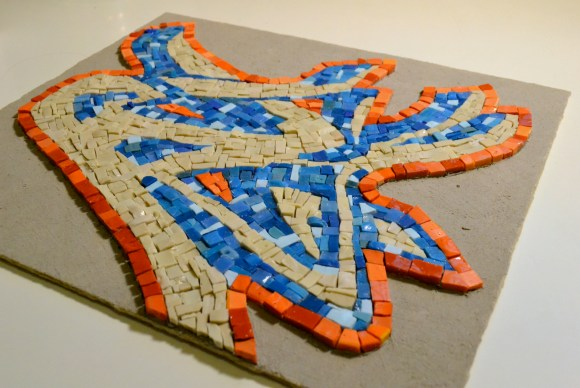 graffit-inspired mosaic wall hanging - smalti