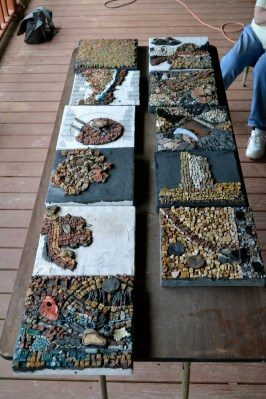 mosaics made in weekend workshop