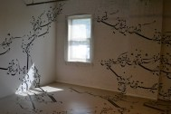 """The installation that blew me away at the Mattress Factory (Parastou Forouhar's """"Written Room"""")"""