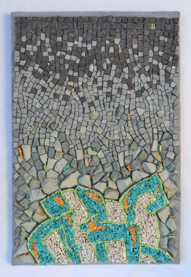 """Punctuated Equilibrium"" mosaic by Julie Sperling"
