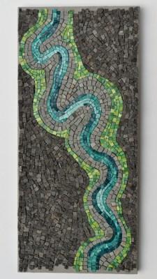 """River bend"" mosaic by Julie Sperling"