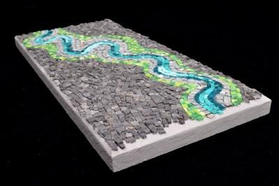 """River bend"" mosaic (angle shot) by Julie Sperling"
