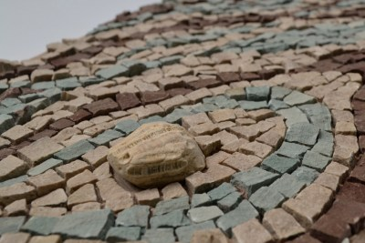 """""""Lifecycle"""" mosaic by Julie Sperling - detail shot"""