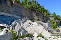 Collapsed layers of limestone at Cape Chin