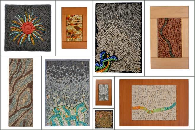 collage of recent mosaics