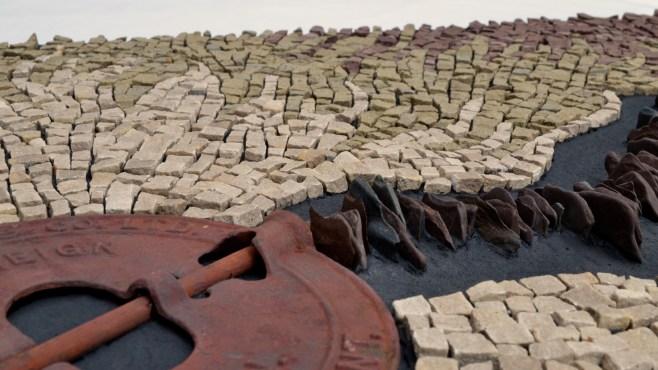 """Heat (Each decade hotter than the last)"" - detail shot. Mosaic by Julie Sperling."