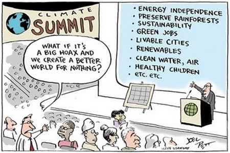 Joel Pett's editorial cartoon perfectly sums up the fact that we have nothing to lose by acting on climate change. So what are we waiting for?