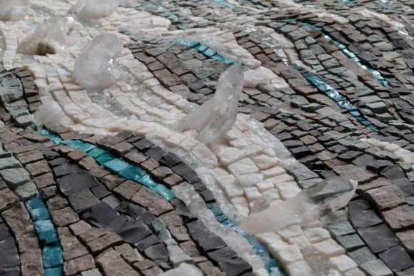 Sea ice mosaic by Julie Sperling (quartz detail)