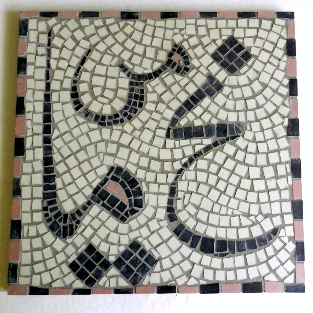 Helen Miles' very first mosaic, made in stolen moments when her children were still very young