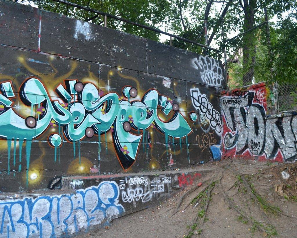 graffiti wall installation - in context