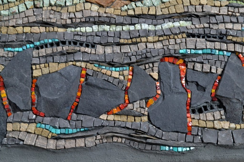 Mosaic about renewable energy (geothermal detail) by Julie Sperling
