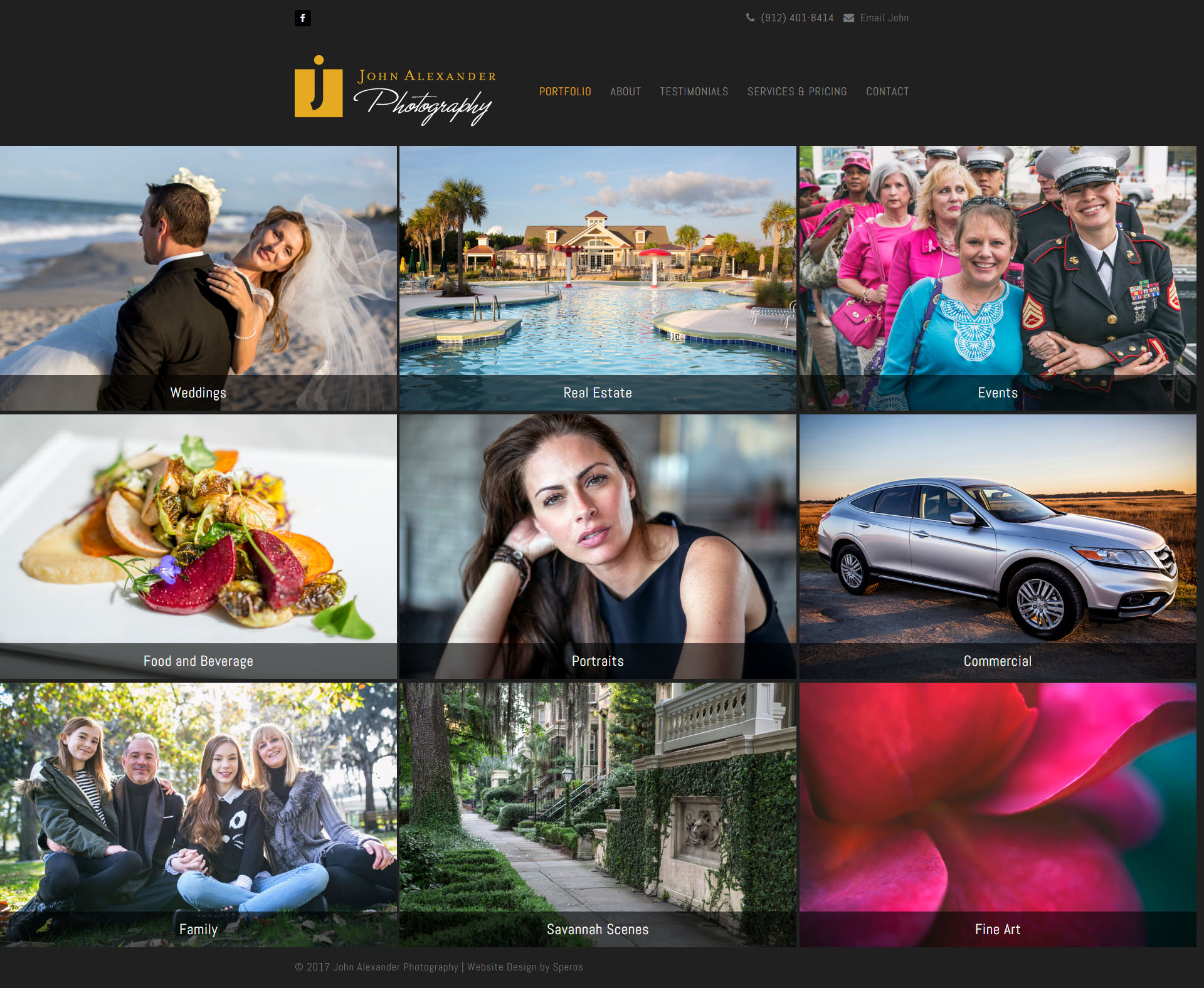 John Alexander Photography Website