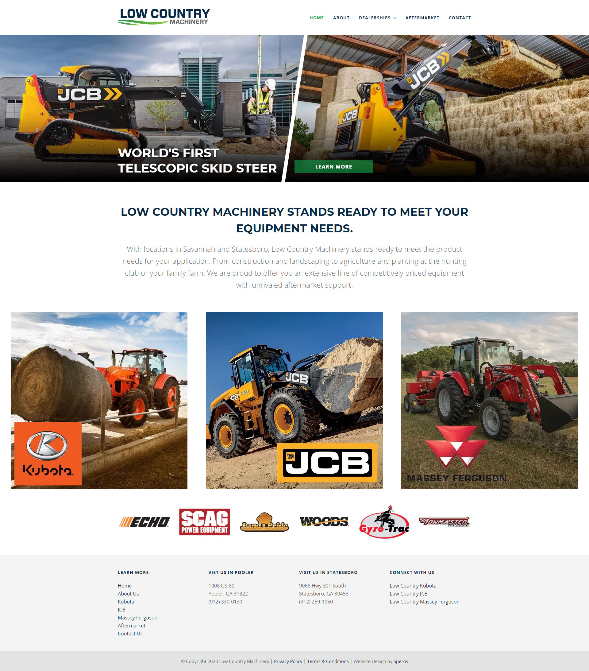 Low Country Machinery website - Speros - Savannah, GA