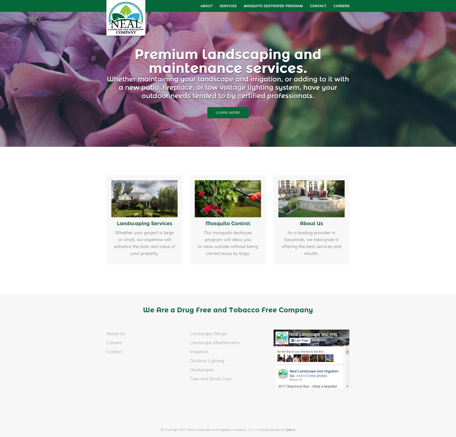 Neal Landscape and Irrigation Website