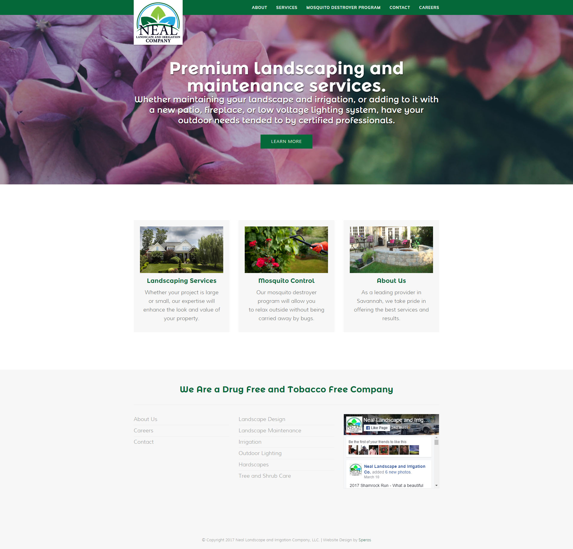 Neal Landscape and Irrigation Website