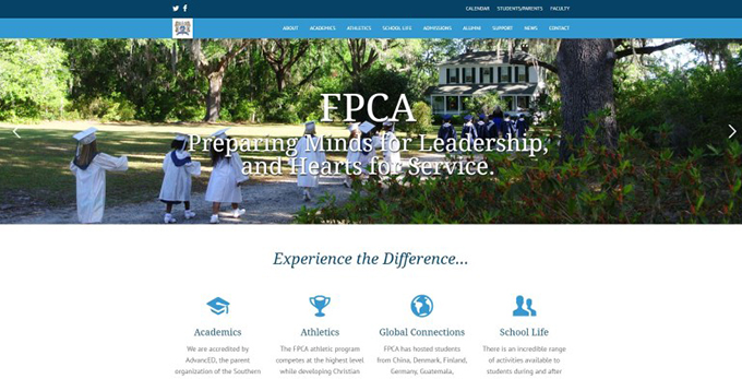 Hinesville's First Presbyterian Christian Academy Launches New Website Created By Speros