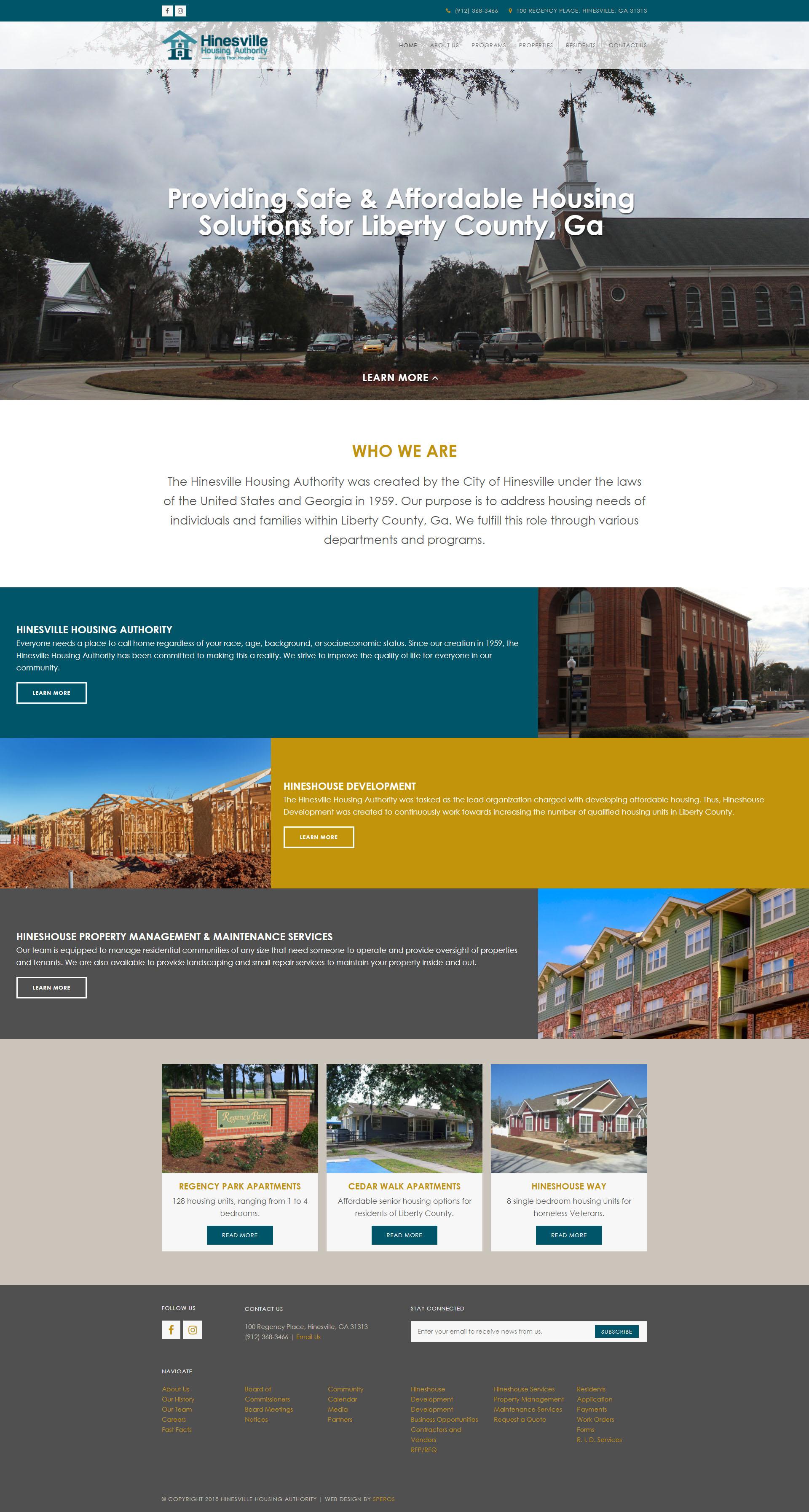 Hinesville Housing Authority Website - Speros - Savannah, GA