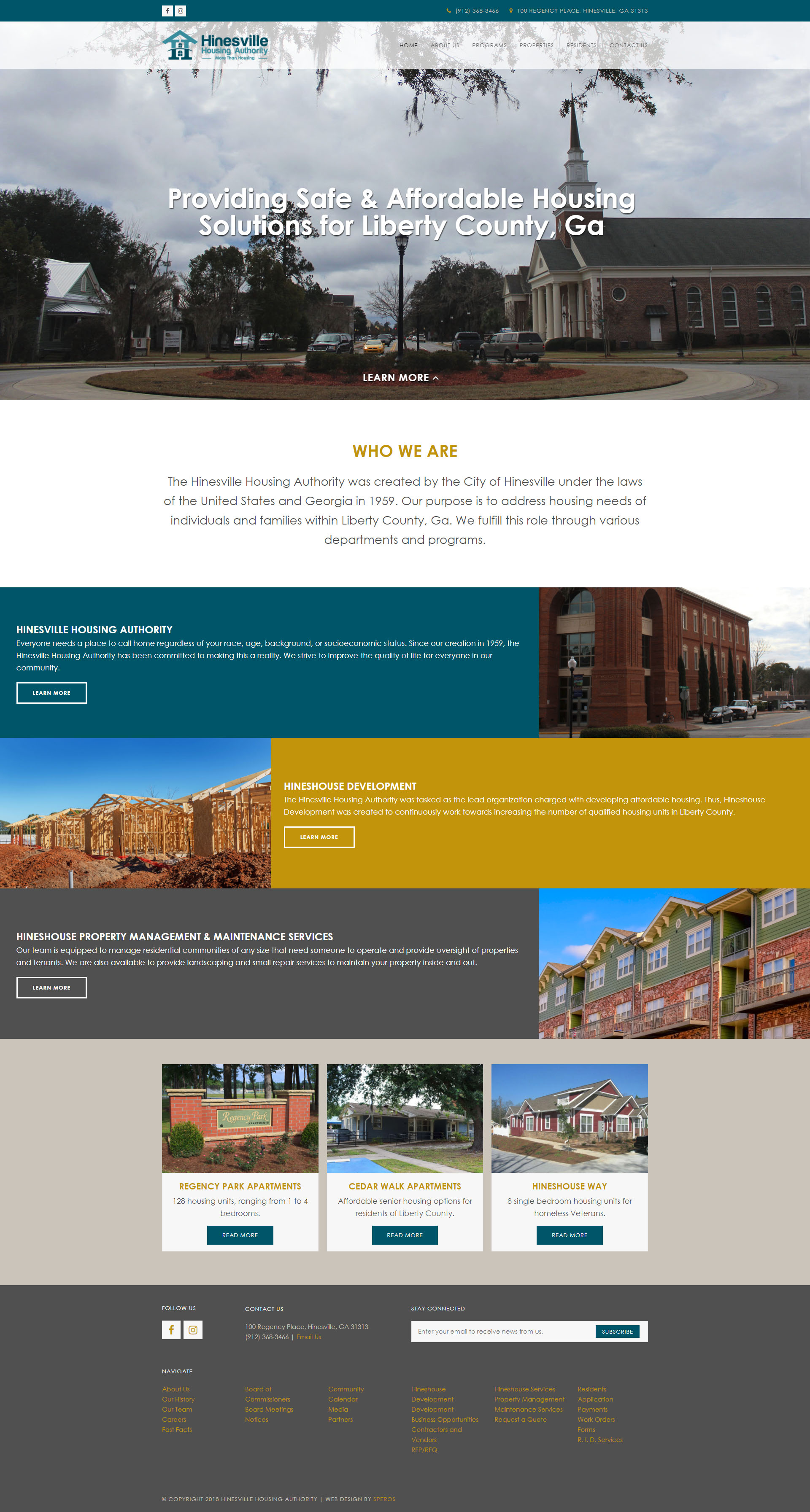 Hinesville Housing Authority Website - Speros - Savannah, GA