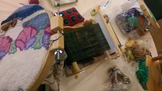 rug hooking and weaving