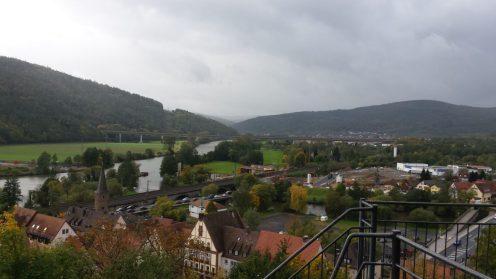 Gemünden Scherenburg Panoramasicht