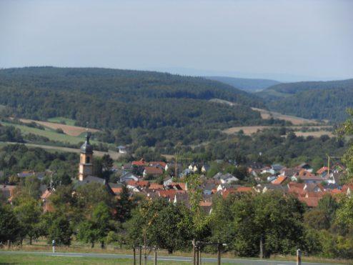Mönchberg-Landschaft-Ort
