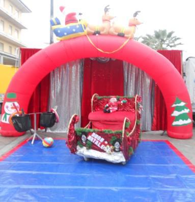 Camerino + ARCO mt 4x3 Gazebo 3x3 x Zucchero e pop corn - Casetta di Natale