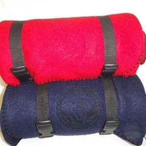 Fleece blanket ( red/blue)