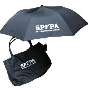 SPFPA store - umbrella and tote