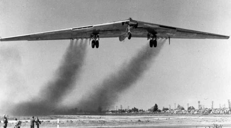 12 Flying Wing Taking Off