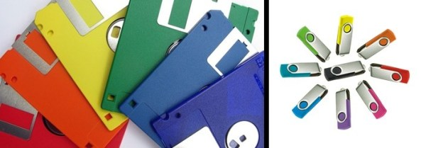floppy disks and usbs