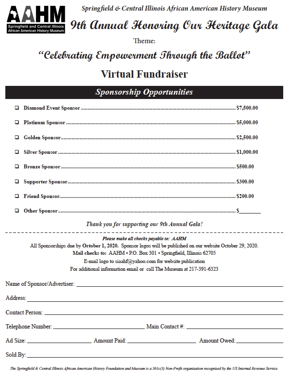 Virtual fundraiser sponsorship options