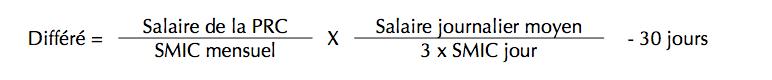 Formule de la convention Assurance chômage du 14 mai 2014
