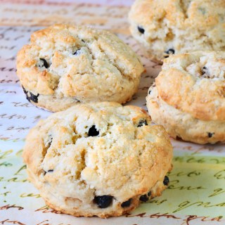 Dried Cherries and Blueberries Scones