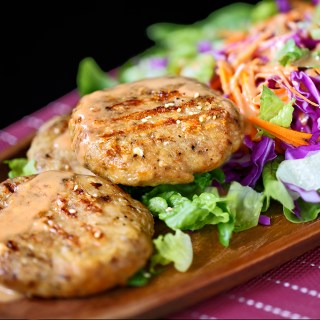 Chicken Patties with Salad