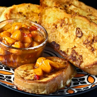 Coconut French Toasts with Mango Salsa