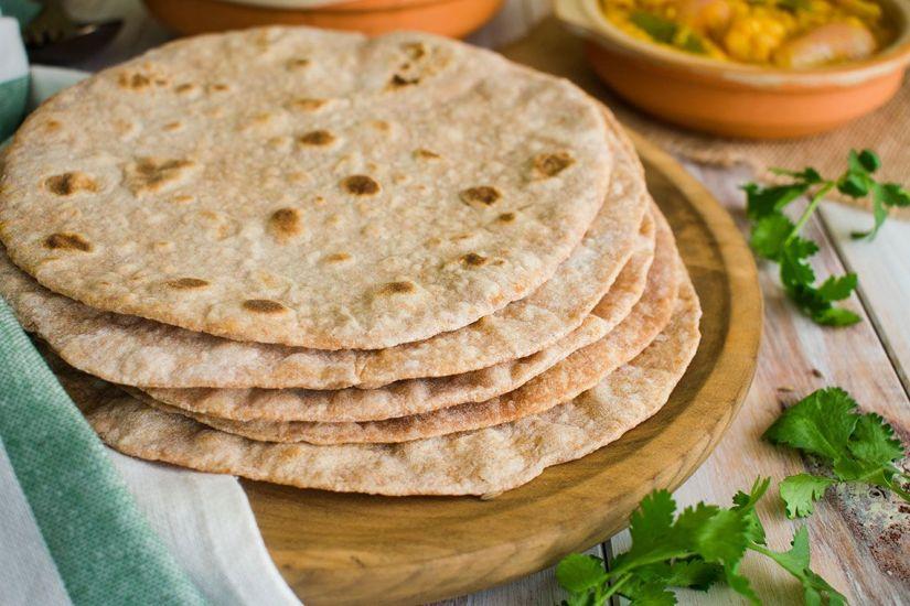 Chapati de harina de Espelta