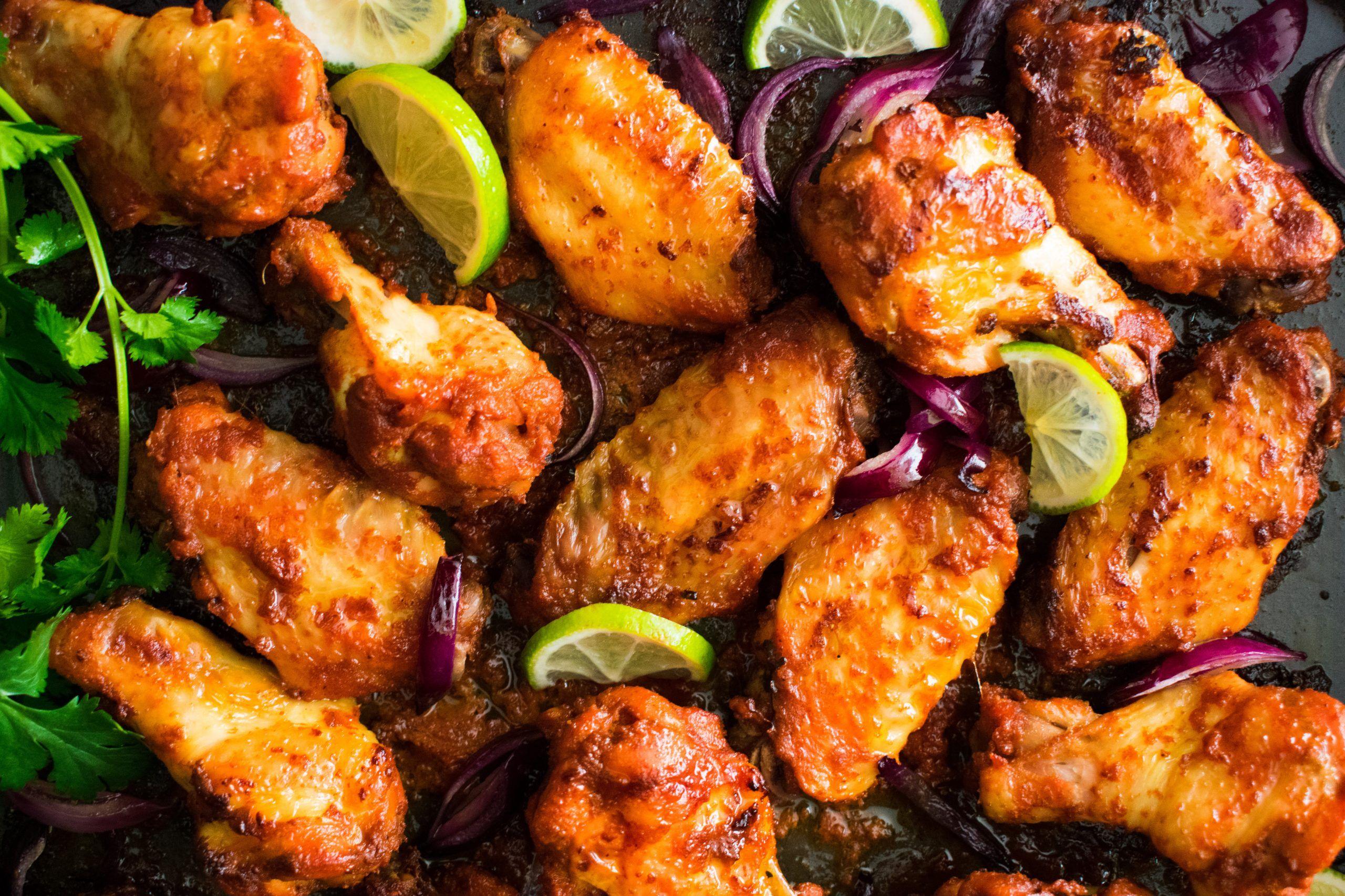 Alitas de pollo tandoori