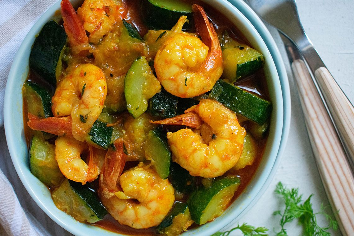 Easy Courgette-Prawn Curry