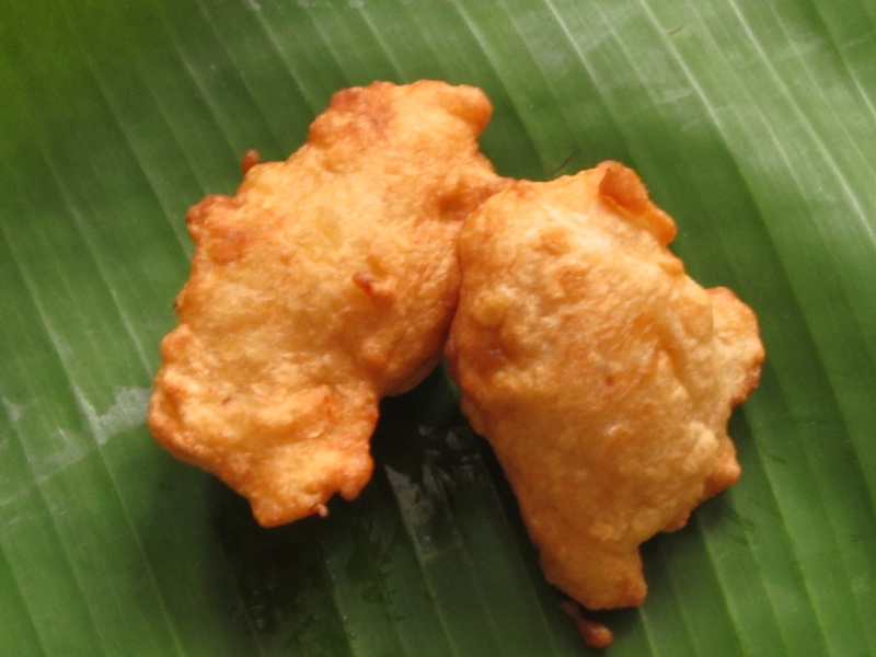 Banana and Coconut fritters