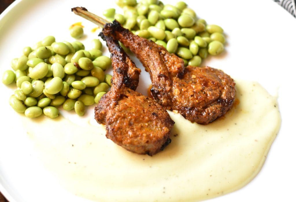 Grilled Lamb Chops recipe. Lamb chops marinated in mediterranean spices and boiled in the oven to perfection. By Spice Cravings. This Grilled Lamb Chops recipe leads to tender, juicy, lemony and spiced with an earthy mediterranean spice blend. It's a simple 30 minute weeknight dinner. #food #foodie #foodblogger #delicious #recipe #instantpot #recipes #easyrecipe #cuisine #30minutemeal #instagood #foodphotography #tasty