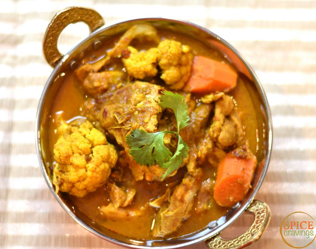 Chicken Vindaloo Keto Version is a popular Indian chicken curry dish from the western coast. It's a local adaptation of the Portuguese dish, carne de vinha d'alhos, which literally means, meat marinated in wine and garlic- how can you go wrong with that! #keto #food #foodie #foodblogger #delicious #recipe #instantpot #recipes #easyrecipe #cuisine #30minutemeal #instagood #foodphotography #tasty #indian #curry