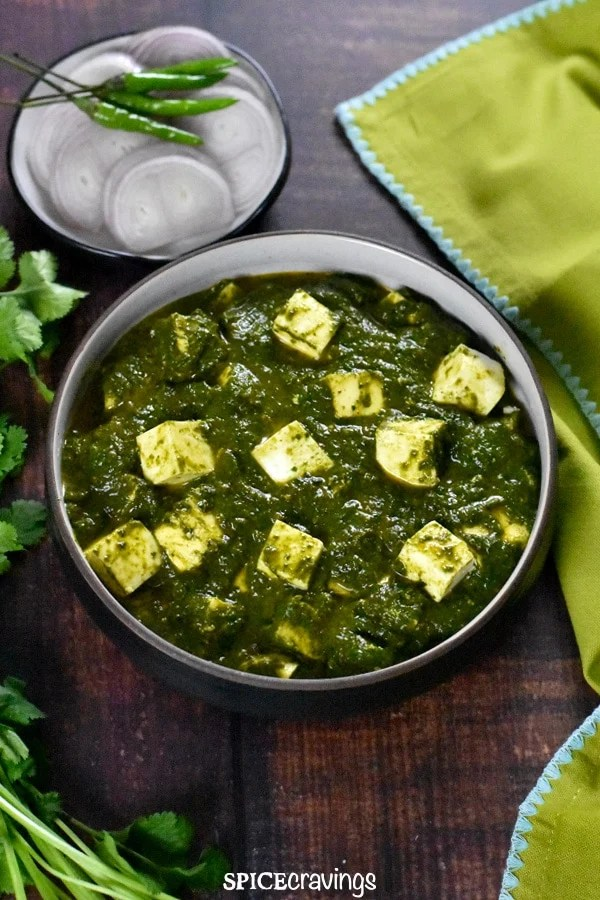 Palak Paneer|Saag Paneer (Instant Pot /Stove) - Spice Cravings