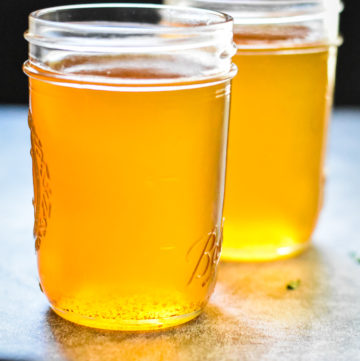 easy clarified butter recipe in two glass jars