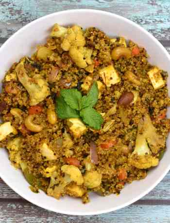Quionoa vegetable biryani. A healthy twist to your everyday vegetarian biryani by Spice Cravings. Quinoa Vegetable Biryani/Pilaf is my healthy twist on a popular Indian classic, Vegetable Biryani! I replace rice with Quinoa in this recipe. #food #foodie #foodblogger #delicious #recipe #instantpot #recipes #easyrecipe #cuisine #30minutemeal #instagood #foodphotography #tasty #indian
