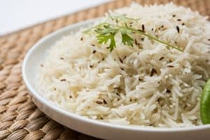Jeera rice , basmati rice flavored with cumin, instant pot pot-in-pot cooking, garam masala kitchen