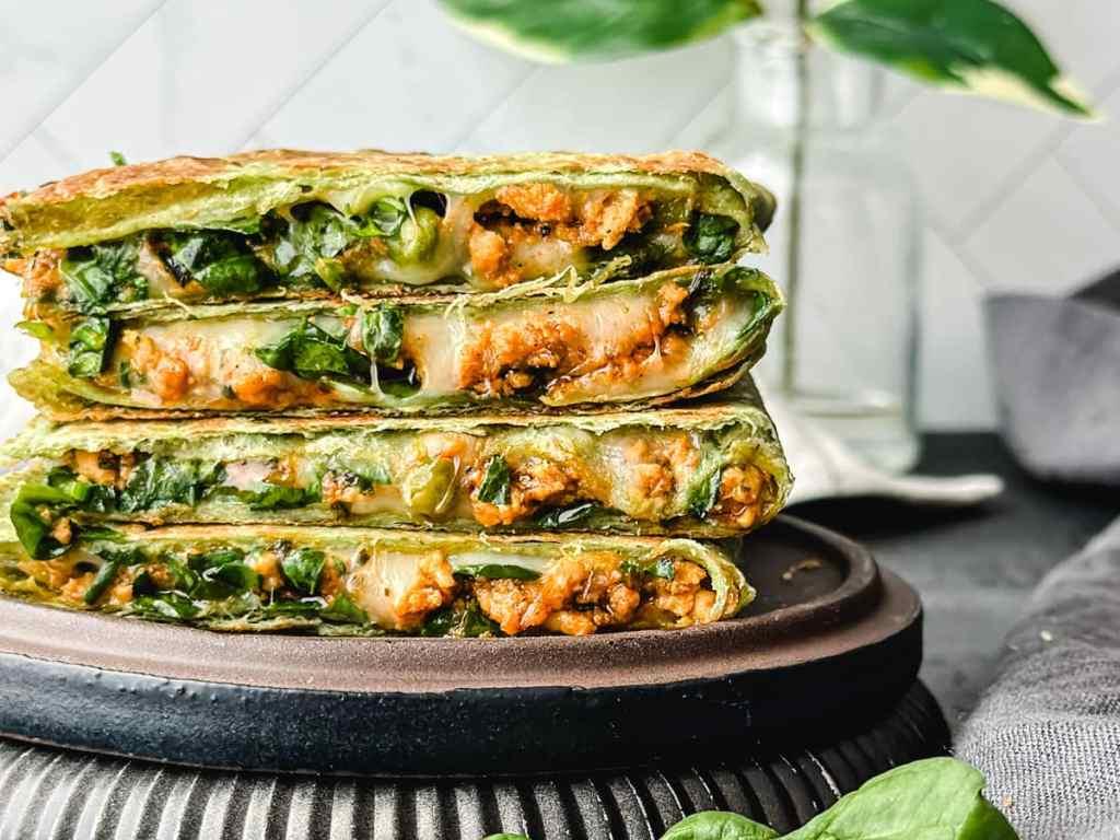 Keema Matar Quesadillas instant pot, Garam masala kitchen