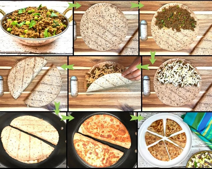 Keema-Quesadillas, Garam masala kitchen