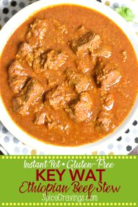 Pinterest pin for Ethiopian beef stew Key Wat recipe